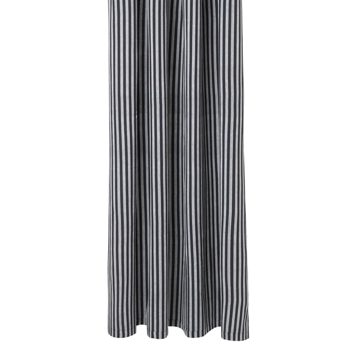 Chambray Shower curtain from ferm Living in black / white stripes