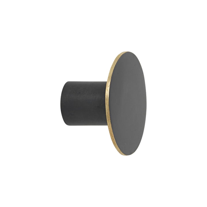 The ferm Living - wall hook black / brass in small