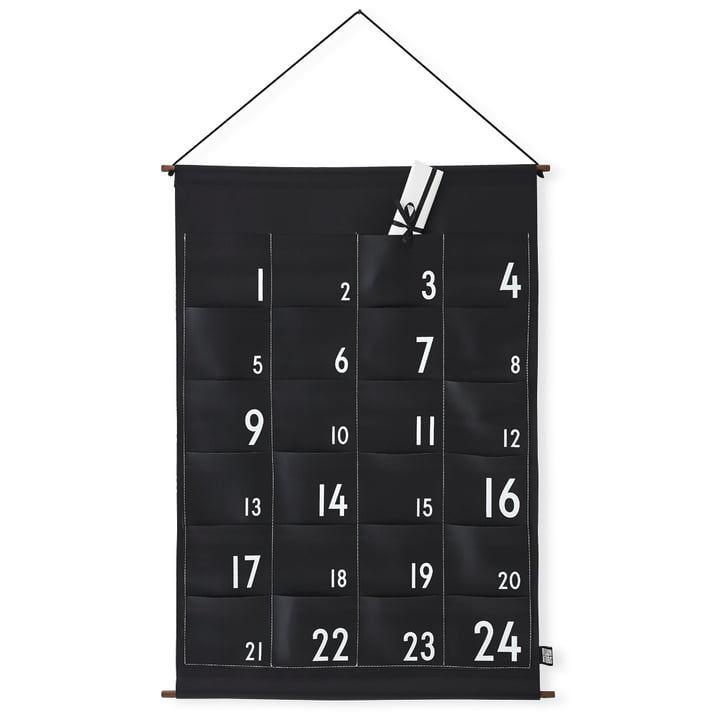 24 Day Calendar by Design Letters in Black / White