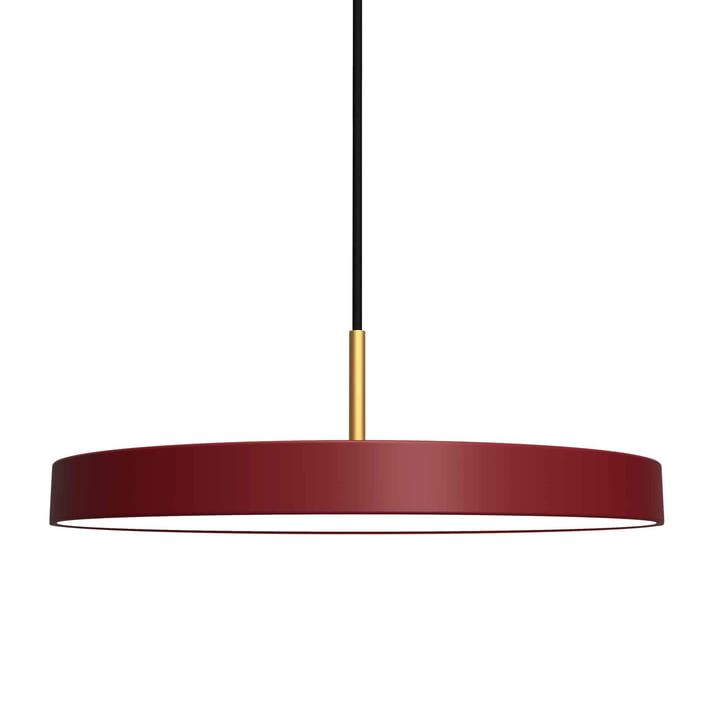 Asteria Pendant light LED from Umage in ruby red