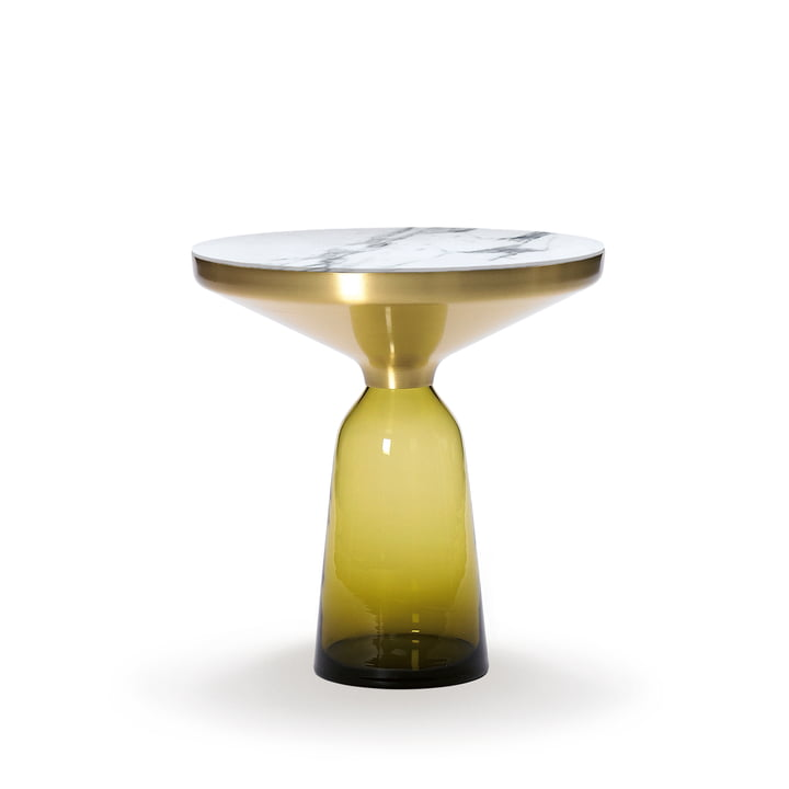ClassiCon - Bell side table, brass / citrine yellow