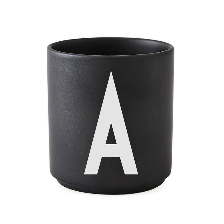 Design Letters - AJ Porcelain Cup A, black