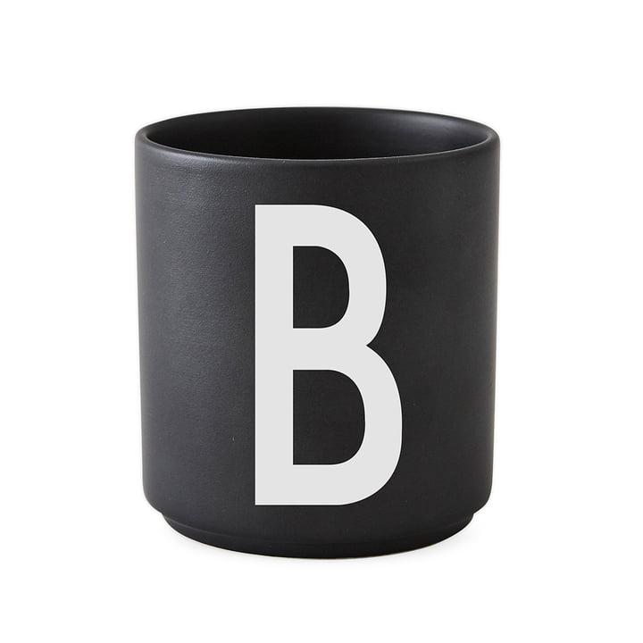 Design Letters - AJ Porcelain Cup B, black