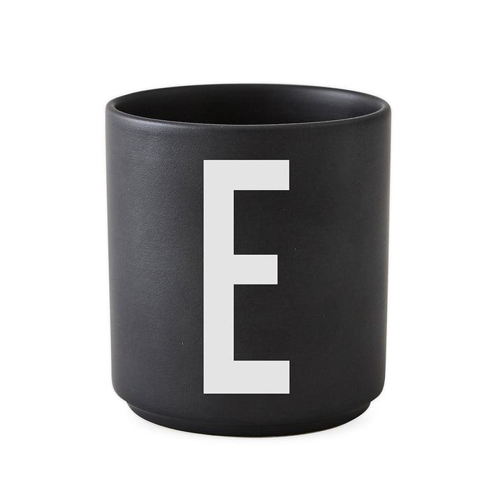Design Letters - AJ Porcelain Cup E, black