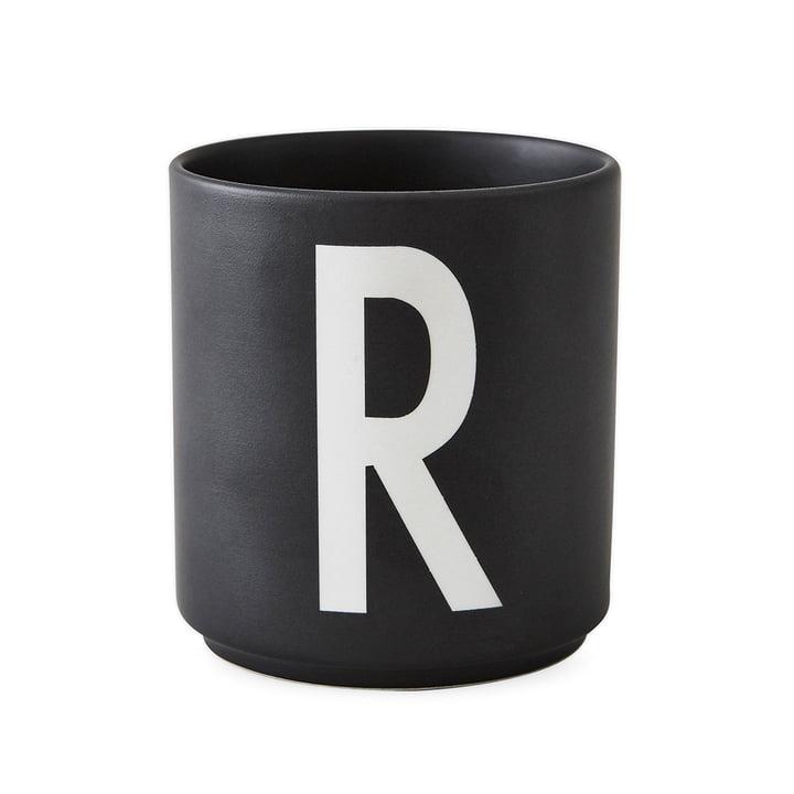 Design Letters - AJ Porcelain Cup R, black