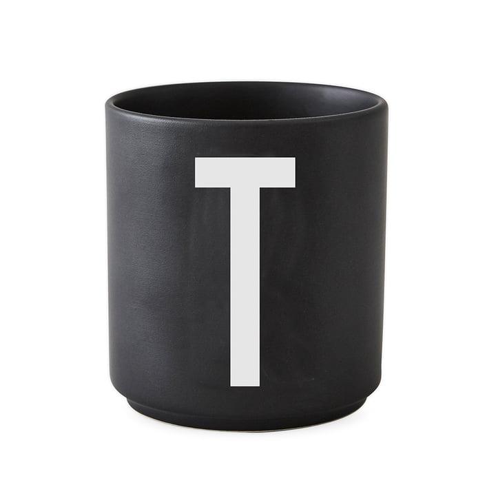 Design Letters - AJ Porcelain Cup T, black
