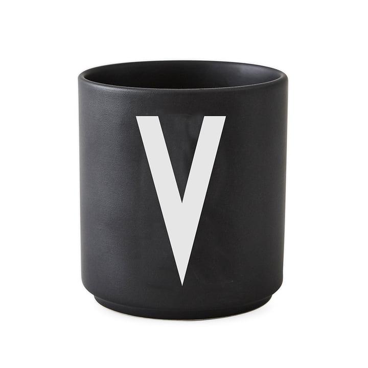 Design Letters - AJ Porcelain Cup V, black