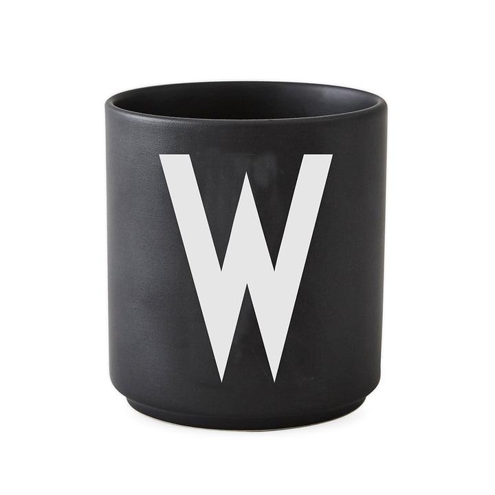 Design Letters - AJ Porcelain Cup W, black