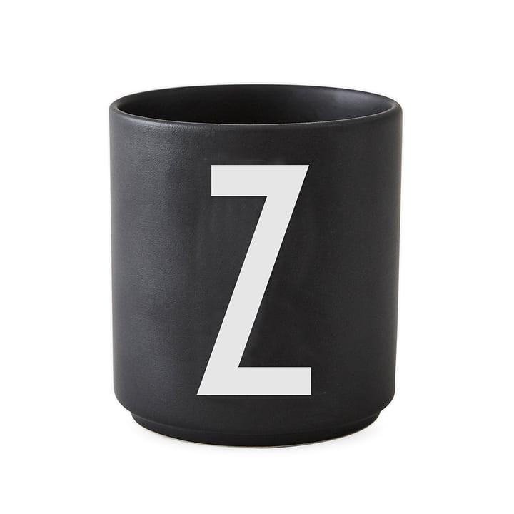 Design Letters - AJ Porcelain Cup Z, black