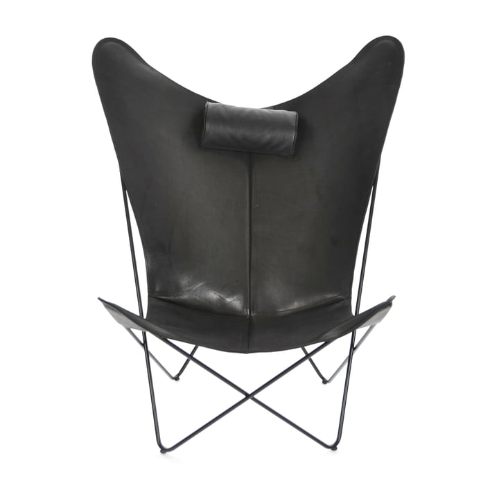 KS Chair by Ox Denmarq made from Black Steel / Black Leather