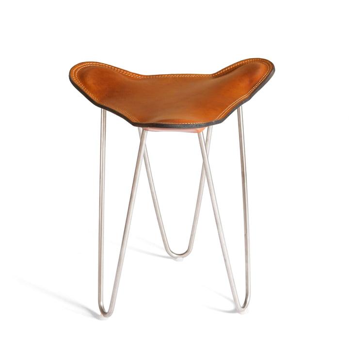 Ox Denmarq - Trifolium Armchair, stainless steel / hazelnut leather