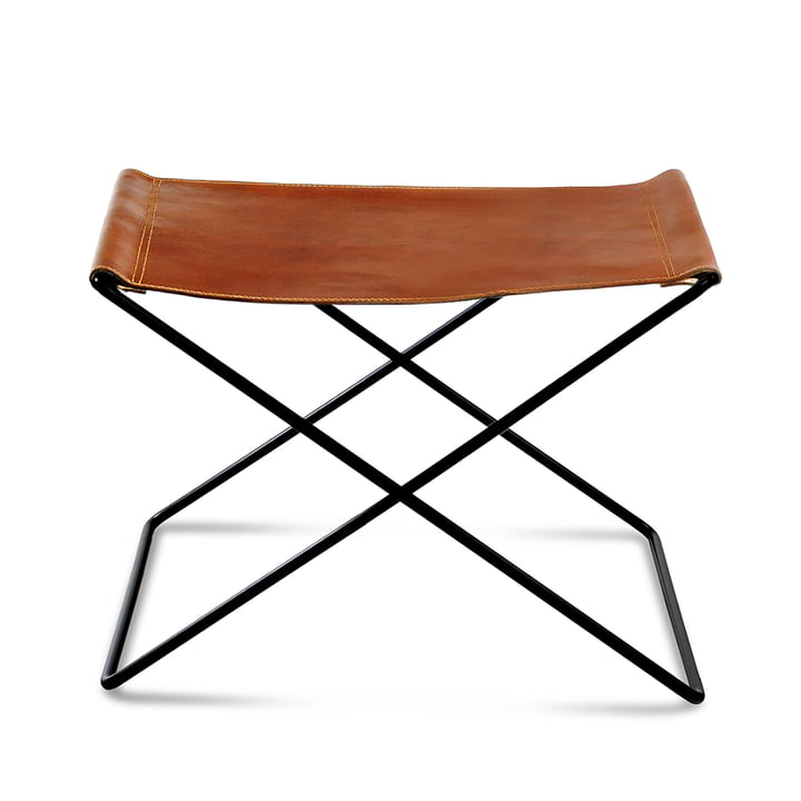 OX Stool by Ox Denmarq, Black Steel / Cognac Leather