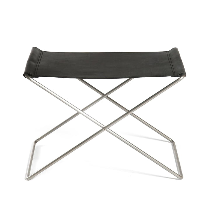 OX Stool by Ox Denmarq, Stainless Steel / Black Leather