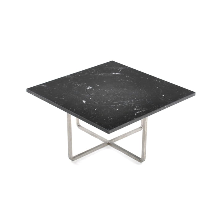 Ninety Coffee Table 60 x 60 cm by Ox Denmarq made of Stainless Steel / Black Marble