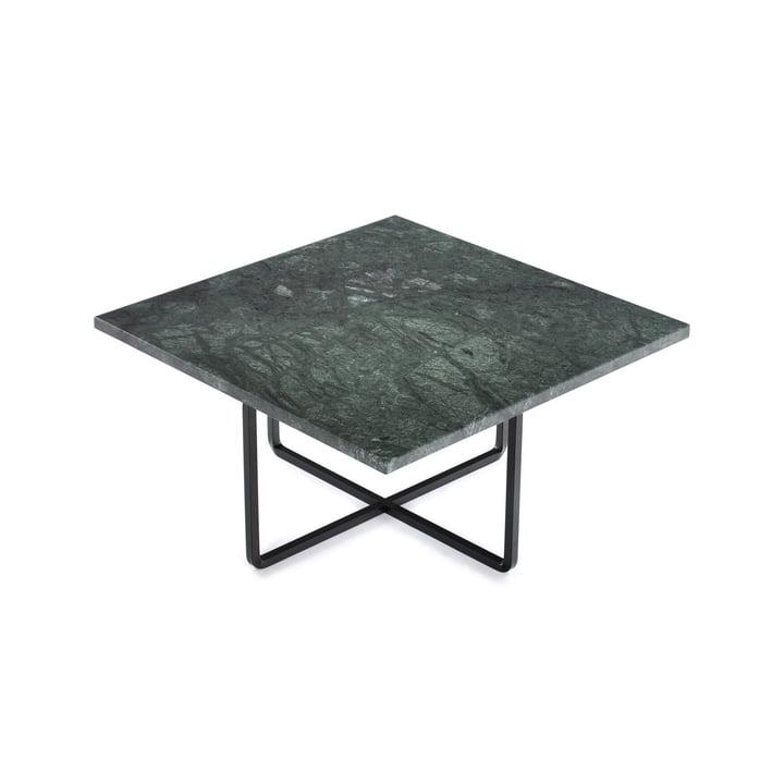 Ninety Coffee Table 60 x 60 cm by Ox Denmarq in Black Steel / Green Marble