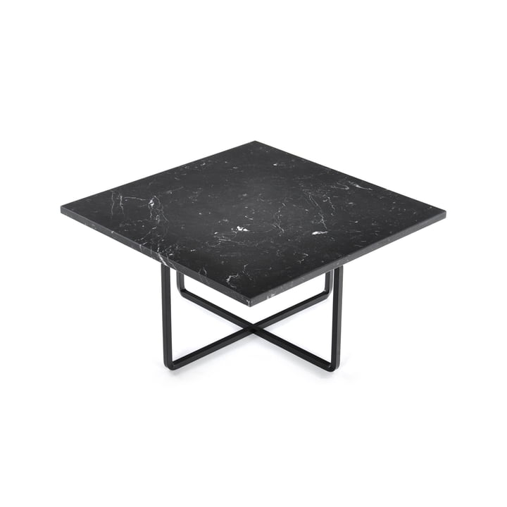 Ninety Coffee Table 60 x 60 cm by Ox Denmarq in Black Steel / Black Marble