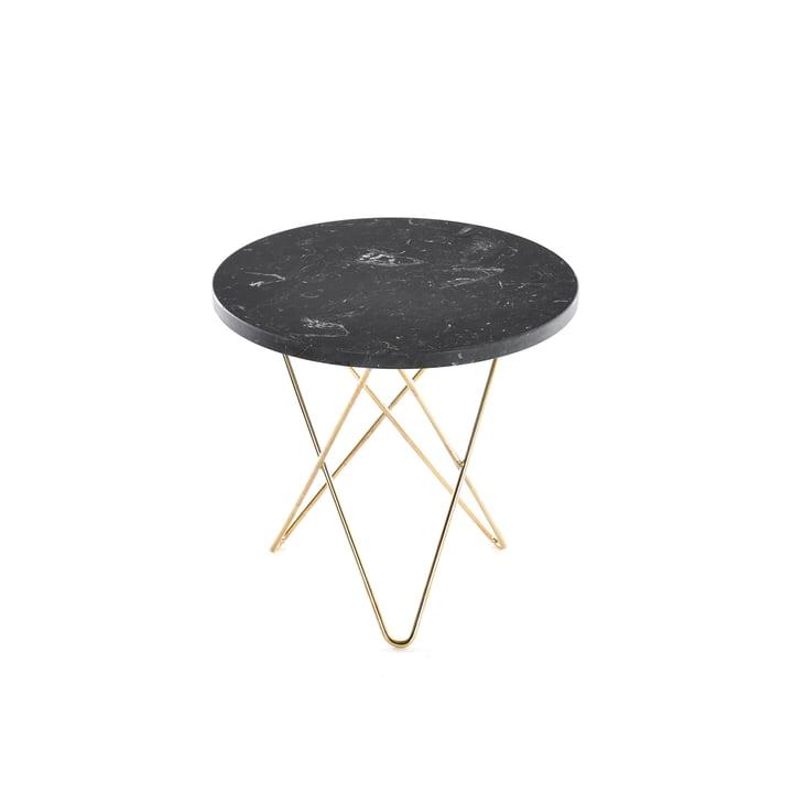Mini O Side Table Ø 40 cm by Ox Denmarq in Brass / Black Marble