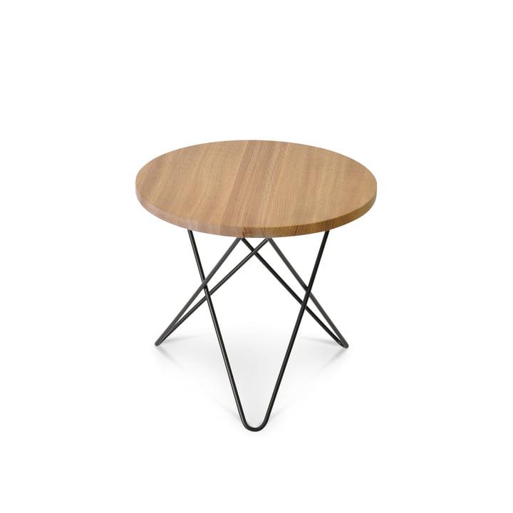 Mini O Side Table Ø 40 cm by Ox Denmark in Black Steel / Oak