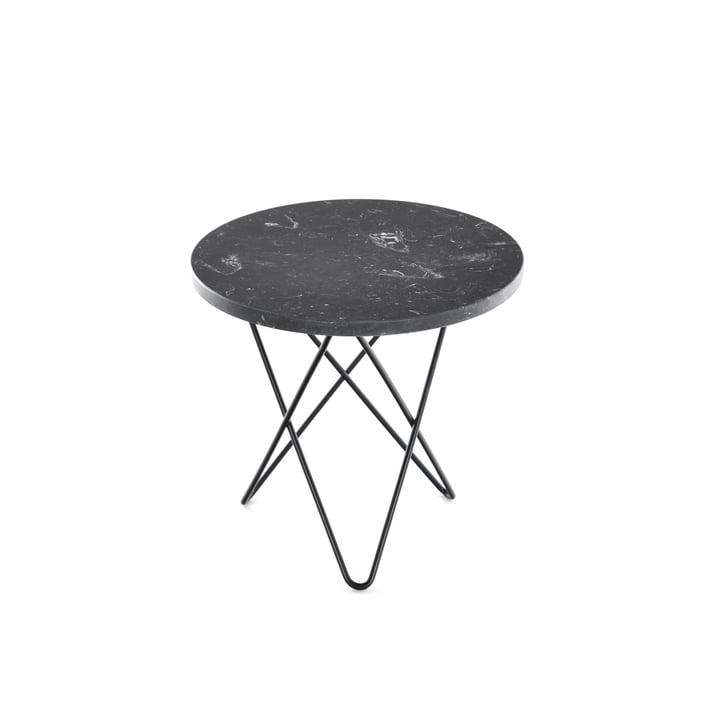 Mini O Side Table Ø 40 cm by Ox Denmark in Black Steel / Black Marble