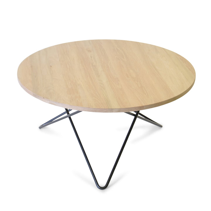 O Coffee Table Ø 80 cm by Ox Denmark in Black Steel / Oak