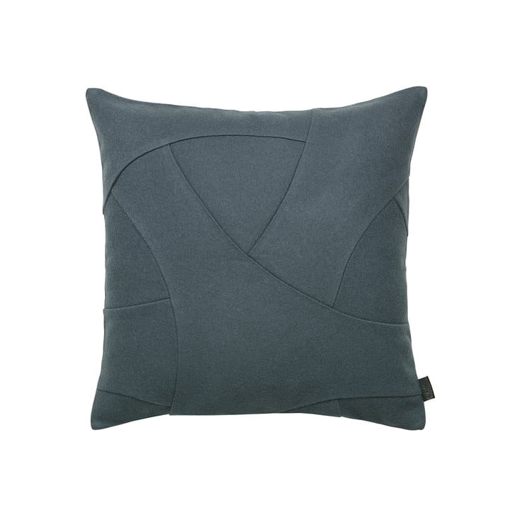 Flow Cushion 50 x 50 cm from by Lassen in Pine Green