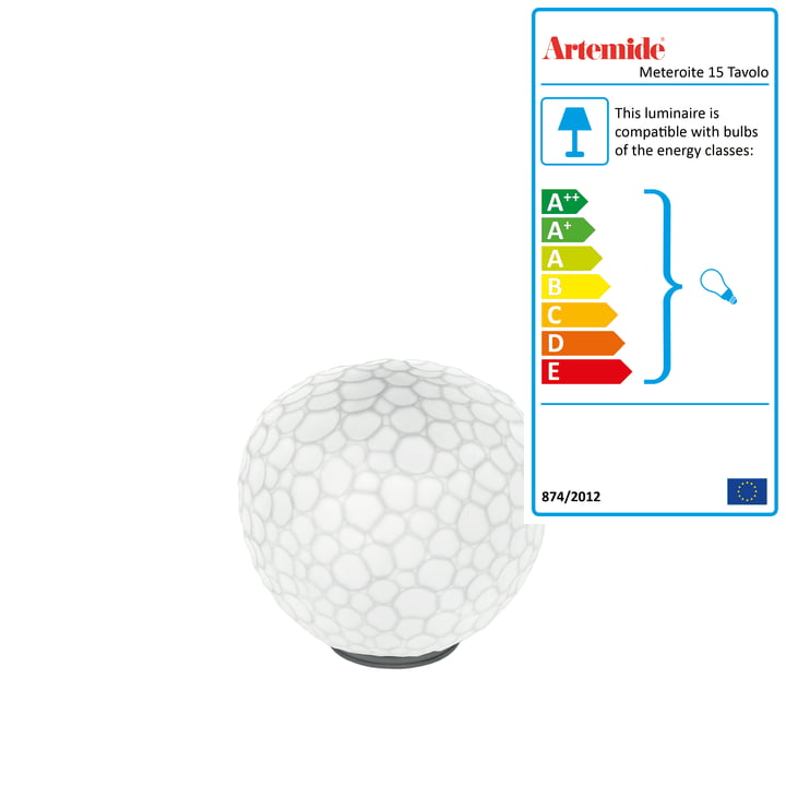 Artemide - Meteroite 15 Stelo table lamp, white