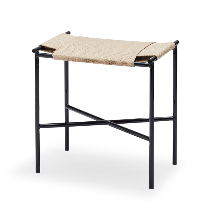 Vent Stool by Skagerak in Black / Natural