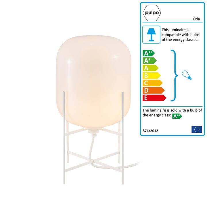 Pulpo - Oda Lamp small, white / white base