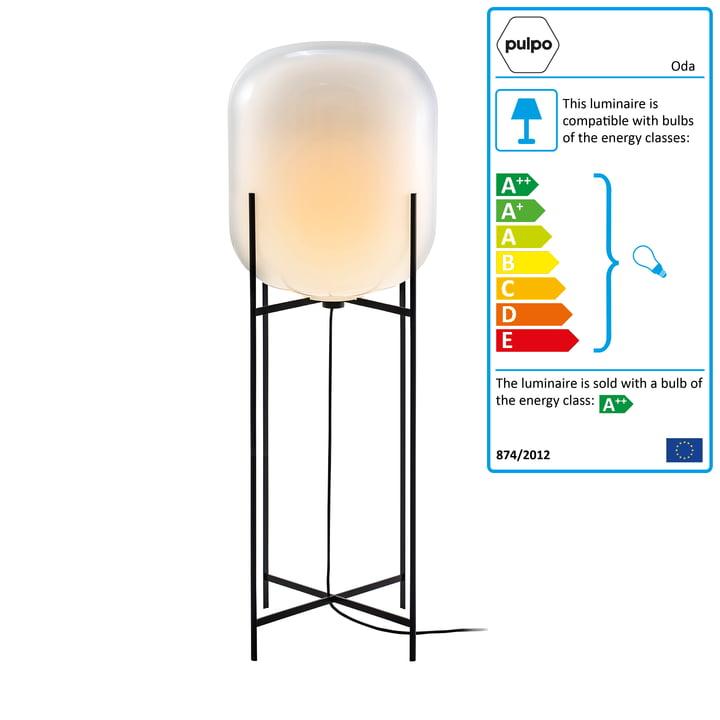 Pulpo - Oda Lamp Big, white / black base