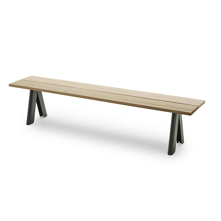 Overlap Bench by Skagerak in Hunter Green