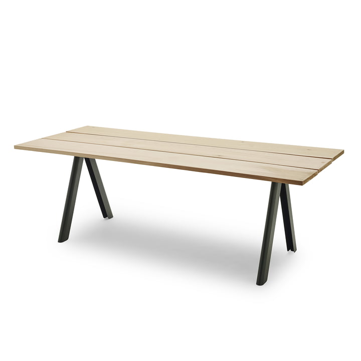 Overlap Table by Skagerak in Hunter Green