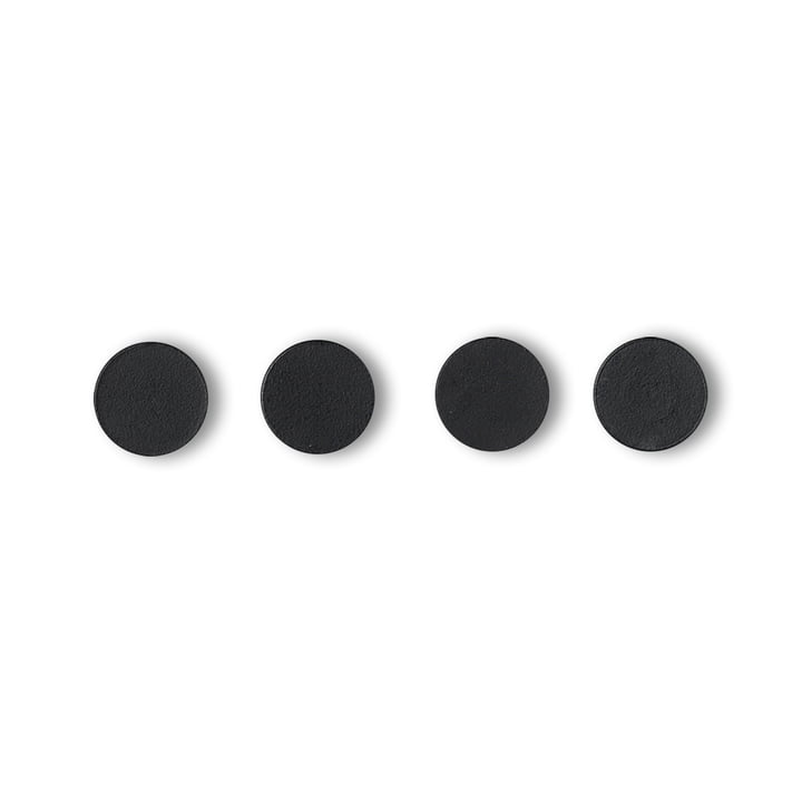 Remind magnets from by Lassen in black (set of 4)