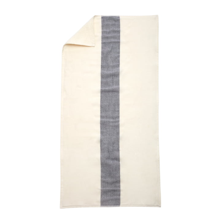 Skagerak - Stripes Towel, 70 x 140 cm, whisper white / dark blue
