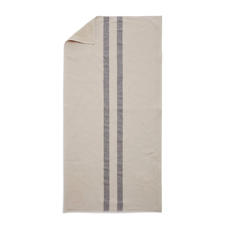 Skagerak - Stripes Towel, 70 x 140 cm, whisper white / dark blue
