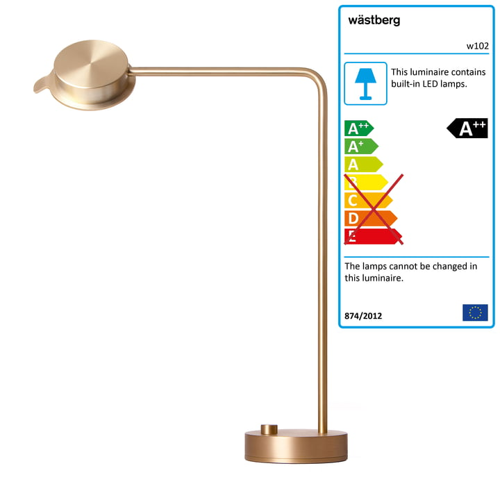 Wästberg - w102 Chipperfield Table Lamp out of Brass