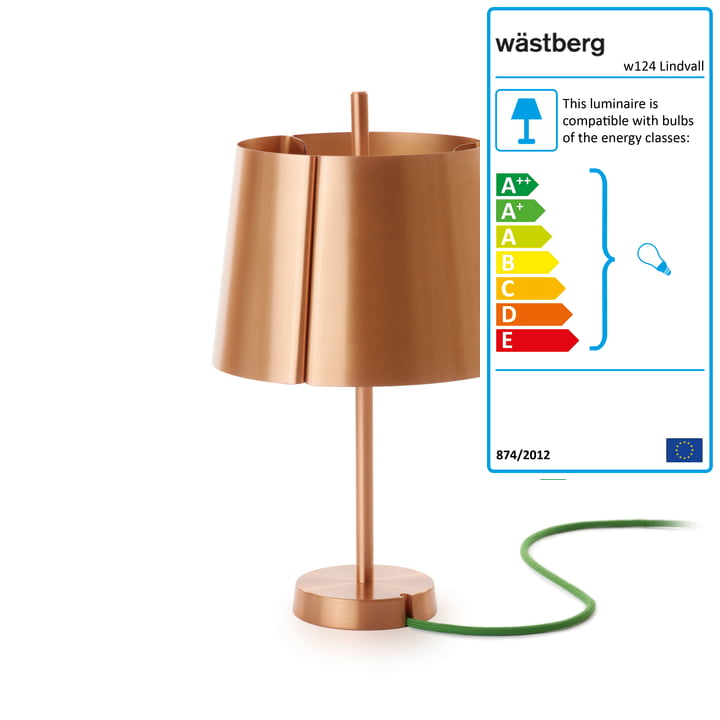 The Wästberg - w124 Table Lamp made from Copper