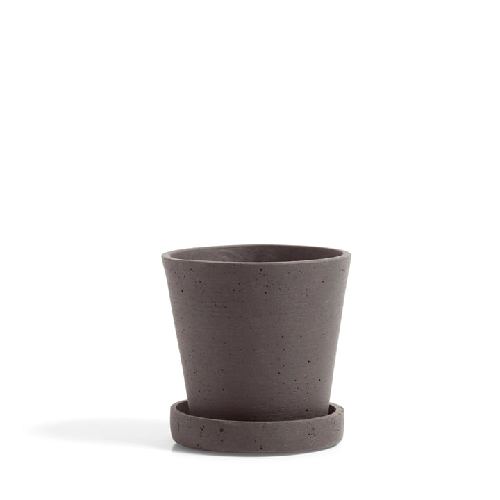 Flower Pot with Saucer S by Hay in Plum