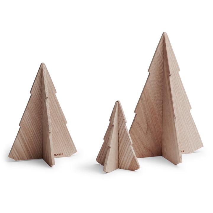 Skagerak - Spruce Tree Christmas Decoration, ash (set of 3)