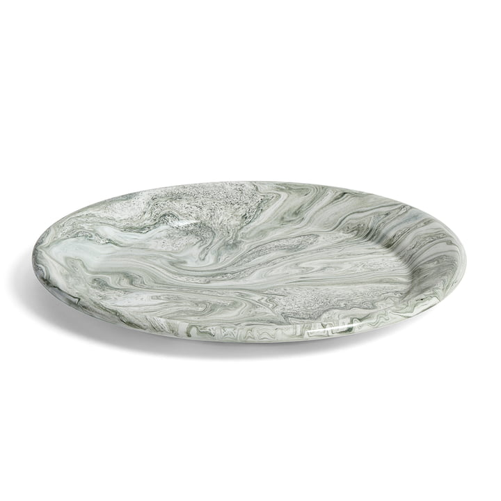 The Hay - Soft Ice Plate, Ø 26 cm in Green