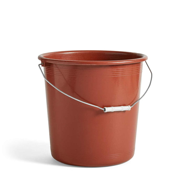 Turkish Plastic Bucket by Hay in Brown