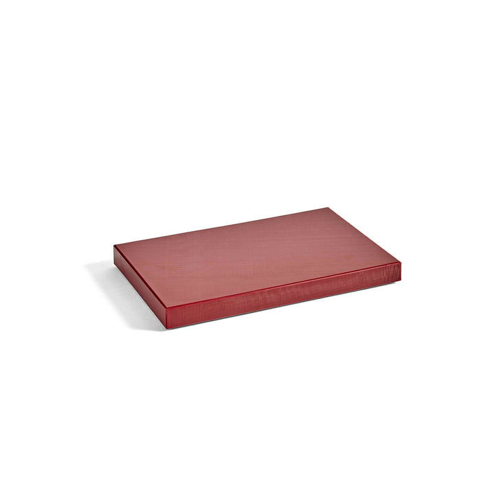 Round Chopping Board M by Hay in Burgundy