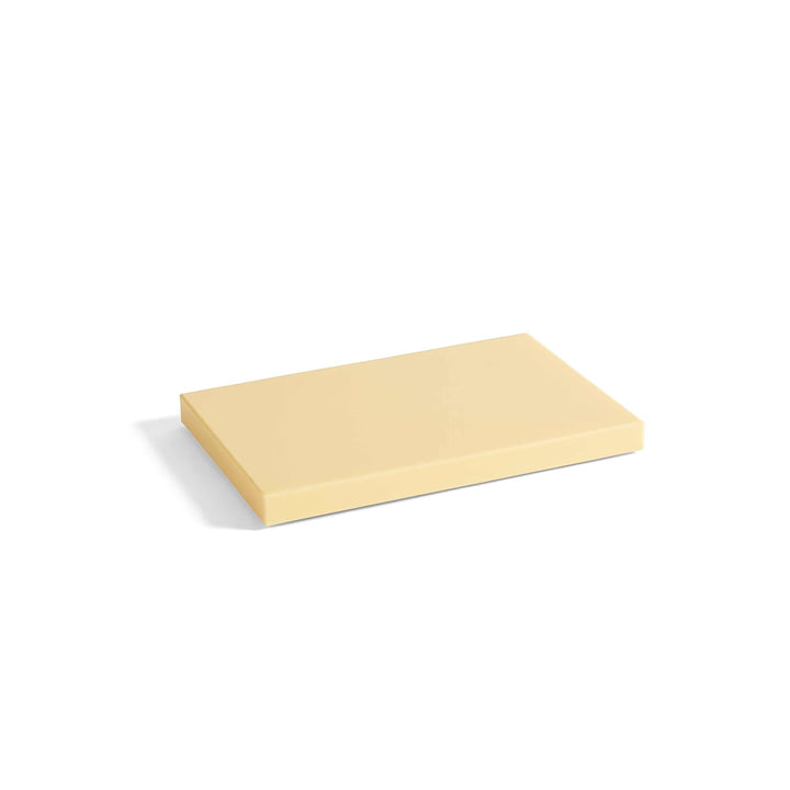 Rectangular cutting board M from Hay in light yellow