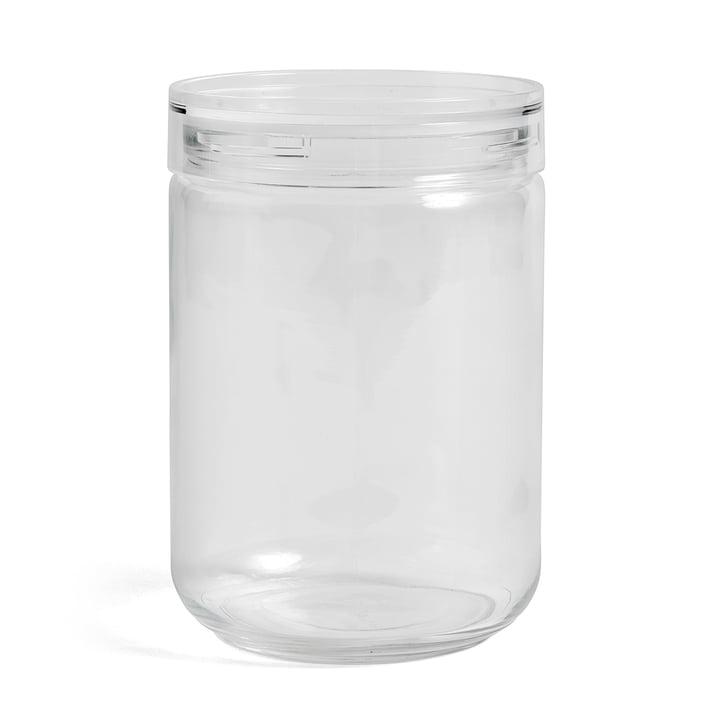 Hay - Japanese Glass Jar XL, Ø 11 x H 17 cm in Clear