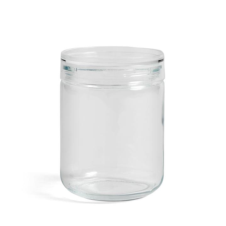 Hay - Japanese Glass Jar L, Ø 10 x H 14 cm in Clear