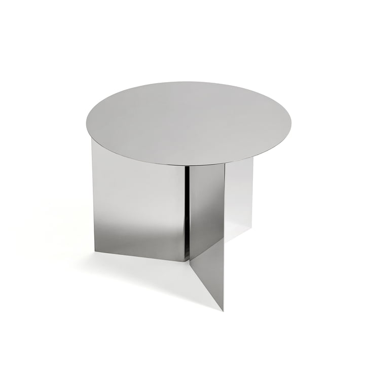 Hay - Slit Table Round, Mirror Polished