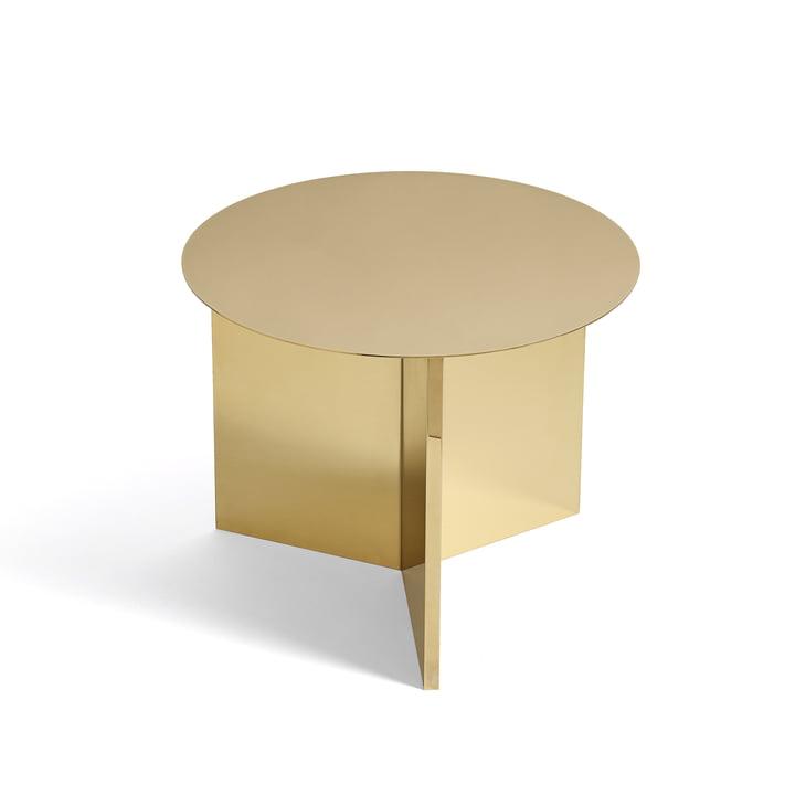 Hay - Slit Table Round in Brass