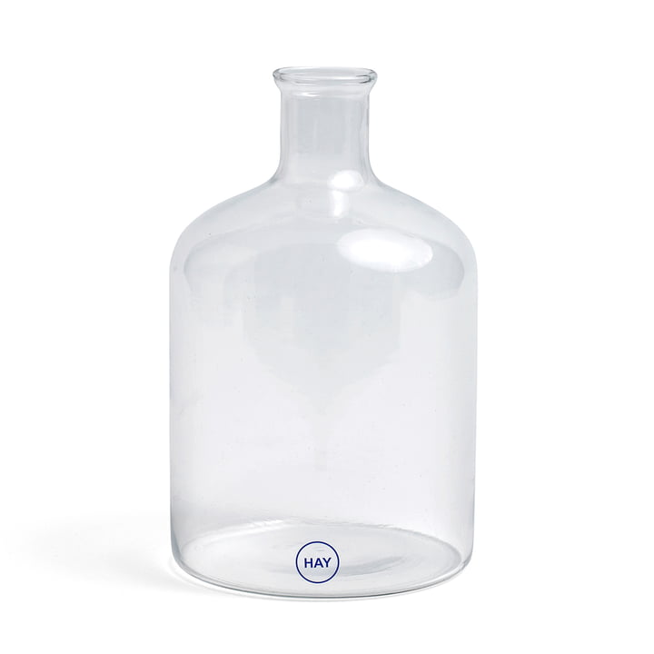 Turkish Cylinder Glass Bottle by Hay in Clear