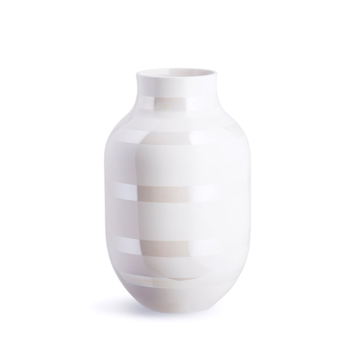 Omaggio Vase H 305 from Kähler Design in mother of pearl