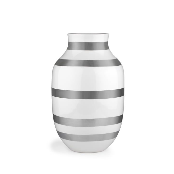 Omaggio Vase H 305 from Kähler Design in silver