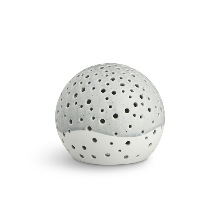 Nobili Tealight Candle Ball Ø 12 cm from Kähler Design in Grey